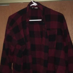 cropped red flannel from h&m